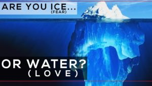 Are You Ice (Fear) or Water (Love)?